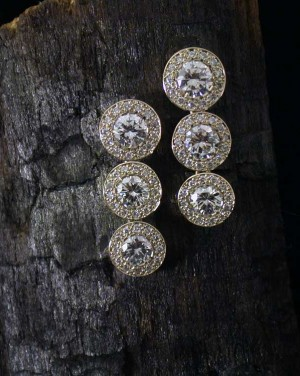 David Mann — Bijoutier à Liège - Boucles d'oreilles diamants articulés