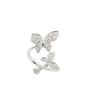 David Mann — Bijoutier à Liège - MIMI bague I Wish I Could Fly Farfalla or blanc et diamants en forme de papillons