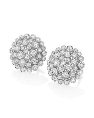 David Mann — Bijoutier à Liège - Casato boucles d'oreilles or blanc et diamants