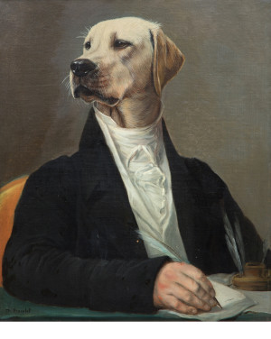 David Mann — Bijoutier à Liège - Thierry Poncelet aristochien tableau golden retriever