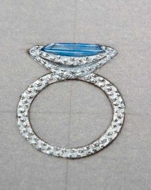 David Mann — Bijoutier à Liège - Croquis dessin projet de bague création bijoux originale unique artisan joaillier sertisseur