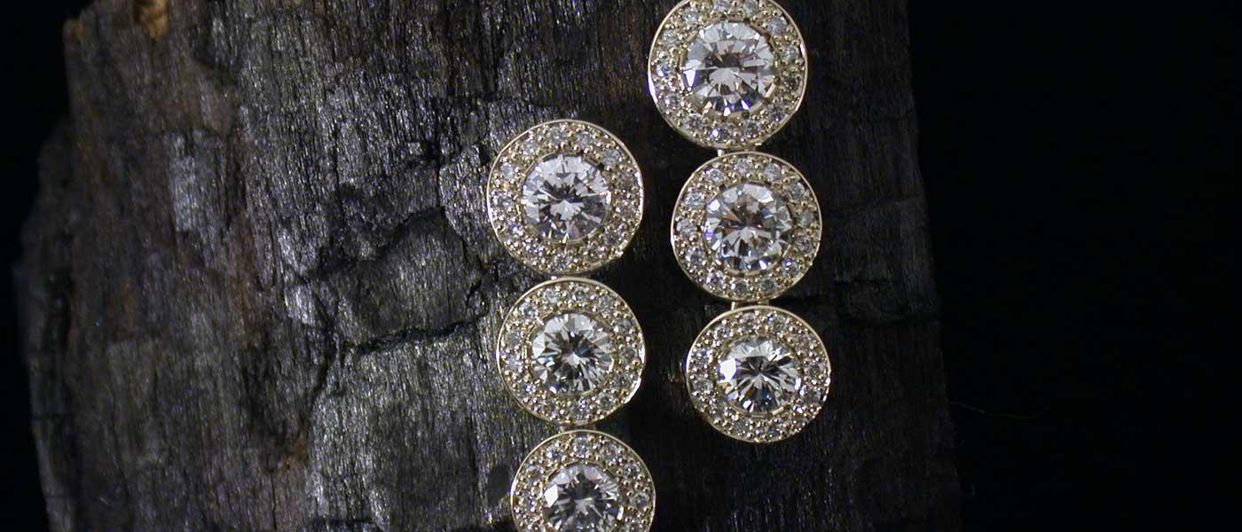 David Mann — Bijoutier à Liège - Boucles d'oreilles - brillants et éléments articulés projet de bijou
