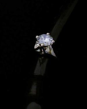 David Mann — Bijoutier à Liège - Bague solitaire diamant or blanc création unique à LIège