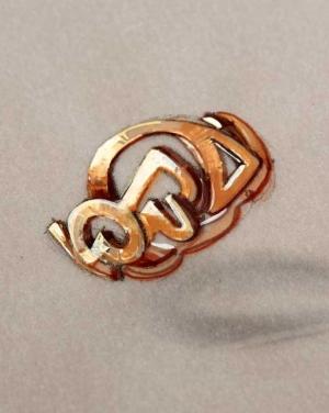 David Mann — Bijoutier à Liège - Bague sur le thème de l'harmonie des éléments, projet de bijou unique personnalisé