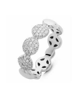 David Mann — Bijoutier à Liège - Bague Hulchi Belluni en or blanc et pavés de diamants