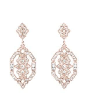 David Mann — Bijoutier à Liège - Boucles d'oreilles Stone Paris Garbo or rose et diamants