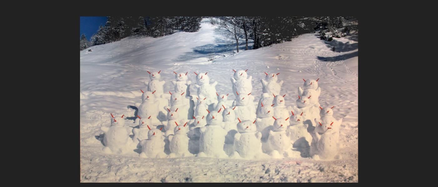David Mann — Bijoutier à Liège - Olaf Breuning photographie Snowmen wide